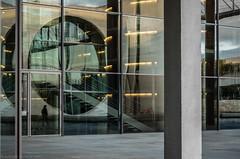 Lines and Reflection (katrin glaesmann) Tags: berlin architecture art paullöbehaus plh restaurant marieelisabethlüdershaus melh stephanbraunfels reflection people stairs spree