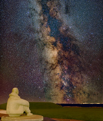 Battle of Britain War Memorial with milky way. Capel-le-Ferne. Kent . UK (canterbury) Tags: nightscape milkyway kent uk capelleferne sonya7r3 stackedphoto galaxy longexposure sonyfe24mm14 astrolandscape stars night raf dover battleofbritainwarmemorial universe