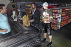 Definitely, i am not fitness... (ThiegoFire) Tags: kuni letistattoo junkfood gutchi style albino flickr blog man men guy catwa hair hairstyle sl secondlife pic photo photography photoshop sneakers chips drink