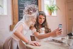 A Bridal Selfie (Robbie Khan) Tags: wedding bridal bride mum mother selfie 35mm canon composition happy smile weddings weddingselfie hat uk hampshire winchester ukshooters weddingphotographer weddingphotography canon5d