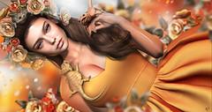 Begonia (meriluu17) Tags: hextrordinary deaddollz itgirls lode foxcity stealthic orange warmth people portrait animal pet dragon lizard queen princess fantasy surreal