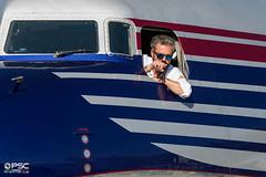 DFC_2551 (GLC Photo Press) Tags: oeldm theflyingbulls douglas dc6b n966dm lowi inn innsbruck flughafenfest2019 airport mountains alps closeup pilot finger glasses cockpit nikon