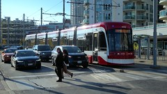 011 -1crp1stpfvib (citatus) Tags: eastbound ttc streetcar 4562 queens quay west dan leckie way route 509 driver pose toronto canada fall afternoon 2019 pentax k1 ii