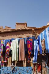 Blue Morocco (Alice Protto) Tags: aitbenhaddou canon reflex blue blu sky morocco desert beduin colors hanging art canoneos550d travel culture maroc marocco