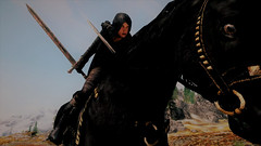 Reaper (rustiejewell) Tags: skyrim skse redguard girl woman female assassin archer gurkish blade first law whiterun plains horse