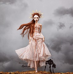 Death (pure_embers) Tags: pure laura embers porcelain bjd doll dolls england uk girl zuluminous sparrow pureembers holy skeleton painted photography photo ball joint portrait fine art beauty dark mist walk alone