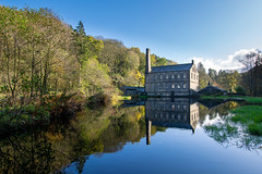 Gibson Mill, Hardcastle Crags (Christopher Combe Photography) Tags: hardcastle crags yorkshire england water reflection gibson mill autumn trees sky
