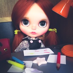 La Petite Marionnette (pajaritovolando) Tags: custom blythe doll art ooak pajarito volando pure neemo personalizada muñeca coleccionista coleccion handmade bjd customizada nuñecas artísticas la petite marionnette by made with love portrait