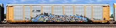 Smek (quiet-silence) Tags: graffiti graff freight fr8 train railroad railcar art smek esc autorack ns norfolksouthern ettx703442