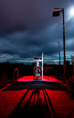 Diesel 4 (Nocturnal Kansas) Tags: night nocturnal moon full gas diesel gaspump gasstation station arizona d800 nikon led1 protomachines nightphotography lightpainting longexposure