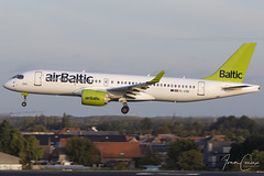 Bombardier CSeries CS300 – Air Baltic – YL-CSE – Brussels Airport (BRU EBBR) – 2019 10 26 – Landing RWY 25L – 01 – Copyright © 2019 Ivan Coninx (Ivan Coninx Photography) Tags: ivanconinx ivanconinxphotography photography aviationphotography brusselsairport bru ebbr bombardier cseries cs300 airbaltic ylcse aviation spotting spotter avgeek