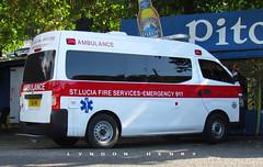 Nissan Urvan Ambulance (Lyndon Henry) Tags: nissan urvan ambulance emergency emt stlucia fire service rescue paramedics