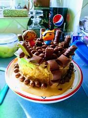 Birthday Cake. (daveandlyn1) Tags: birthdaycake cake chocolates chocolatebars pepsi pralx1 p8lite2017 imagetakenwithahuaweip8 smartphone psdigitalcamera cameraphone