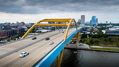 Hoan Bridge - Explored (Sharky.pics) Tags: hoanbridge usa danielhoanmemorialbridge bridge city cityscape milwaukee september unitedstatesofamerica drone travel aerialphotography wisconsin aerial architecture urban unitedstates djimavicpro skyline 2019