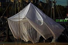 Tentatives spaces over (Edgard.V) Tags: paris parigi fiac 2019 hors les murs cecilie bendixen architecture textile arquitectura architectura vent vento wind voile vela sail