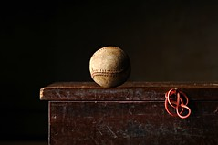 The Loneliness of the Outfield (Studio d'Xavier) Tags: werehere solitary outfield baseball stilllife strobist