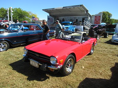 Red Triumph TR6 (smaginnis11565) Tags: triumph triumphtr6 britishcar britcar roadster carshow haverstraw newyork rocklandcounty 2019