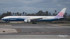 """Dynasty"" B773ER B-18007 (aleks_cal) Tags: china airlines chinaair boeing b777 b773er boeing777 landing livery dynasty taipei taiwan losangeles klax lax airport aviation avion plane heavy"