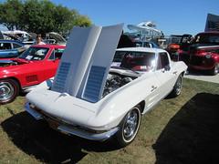 White Chevrolet Corvette Stingray (smaginnis11565) Tags: chevrolet chevroletcorvette corvettestingray mark2corvette sportscar carshow haverstraw newyork rocklandcounty 2019