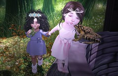 Best Friends Are The Fairy Tales Of Life... (thethreeofme (cami bloodmoon)) Tags: pose mias miasapparel lulabelle doe analogdog colormecute bebebody bebebrand enfersombre cutemoon