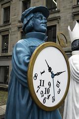 'Entschleunigungs-Zwingli' (Deceleration-Zwingli) Statue. Grossmünsterplatz, Zürich, Canton of Zürich, Switzerland (rickwarner) Tags: cantonofzürich grossmünster switzerland zurich
