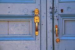 Blue and Gold (emerge13) Tags: architecture colonialarchitecture cuba doors trinidadsanctispirituscuba architecturaldetails blue puertas texture textures minimalism minimal