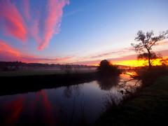 NICE VIEW ON THE RIVER PA270097 (hlh 1960) Tags: landschaft landscape nature natur river fluss blies himmel sky wolken clouds farben colour trees bäumer wasser water wiese gras spiegelung mirrow licht light mist misty nebel