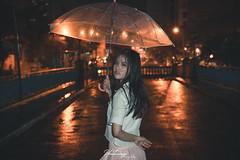 Night Falls Rain (Phi Trieu Photography) Tags: phitrieuphotography nightfallsrain rain night teen beautifulgirl portrait umbrella nikond7100 raining alone