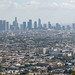 Los Angeles skyline bathed in smog from Griffith Park
