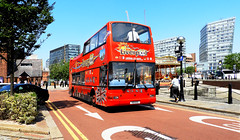 HOP ON - HOP OFF # 1. (tommypatto : ~ IMAGINE.) Tags: liverpool tourism albertdock buses