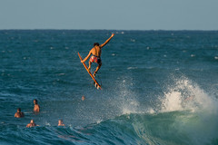 Gotta Flight to Catch (jijake1977) Tags: surf sunset waves ocean hawaii northshore haleiwa pipelin
