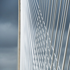 Criss cross (Arni J.M.) Tags: architecture bridge hangers cables crisscross pattern tower sky fcbc drivebyshooting queensferrycrossing firthofforth edinburgh scotland uk