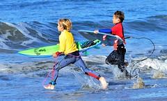 Kids love surfing