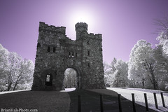 Bancroft Tower (Brian M Hale) Tags: bancroft tower ma mass massachusetts newengland usa outside outdoors ir infrared brian hale brianhalephoto castle 590nm