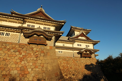 Kanazawa castle at early morning