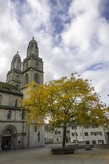 Grossmünster, Grossmünsterplatz, Zürich, Canton of Zürich, Switzerland (rickwarner) Tags: cantonofzürich grossmünster switzerland zurich