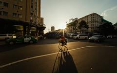 Urban in the sun (Cadicxv8) Tags: city street streetphotography saigon people bike bicycle sunset goldenhour