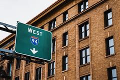 Interstate 94 West - Minneapolis, Minnesota (Tony Webster) Tags: downtownminneapolis i94 interstate94 minneapolis minnesota downtown freeway freewayentrance sign signage unitedstatesofamerica