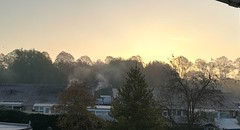 Sunrise. (daveandlyn1) Tags: haze trees rooftops sunrise pralx1 p8lite2017 huaweip8 smartphone psdigitalcamera cameraphone frostymorning
