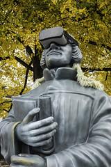 '4Mation-Zwingli' Statue. Grossmünsterplatz, Zürich, Canton of Zürich, Switzerland (rickwarner) Tags: cantonofzürich grossmünster switzerland zurich