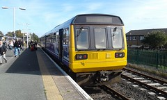 Class 142, 142047, Platform 2, Morecambe. This is probably the failed 2C87, 12:49, Morecambe > Heysham Harbour, 16/09/2019. (Belmont_21988uk) Tags: morecambe pacer station class142 142047