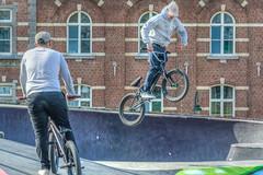 flying high (stevefge) Tags: 2019 belgium bikes brussel brussels bruxelles stunts bicycles bike bmx people street candid unsuspectingprotagonists unsuspecting sport recreation jump wheels caps nikon reflectyourworld
