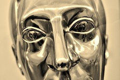 """Wakey, Wakey. The operation was a success....."" (markwilkins64) Tags: bust tate tatebritain london uk sepia sepiatone reflection face nose gallery art markwilkins hypnotic"