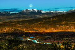 Moon River (rigpa8) Tags: moonset mountains fullmoon river coloradoriver water morning landscape colorado ngysaex