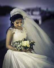 Muze (liesbet_sanders) Tags: bride bridal bridesdress wedding marriage wind outside canal ship daytime artificial light woman best day love forever colours bouquet