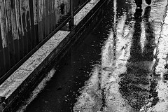 Jogger in the Rain (Larry Shields Photography) Tags: nuitblanche paris2019summerfall worldwidephotowalk