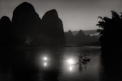 Fisherman at Xing-Ping (Fabrizio Massetti) Tags: sunrise night leica guilin guanxi fishermen river famasse fabriziomassetti fog landscape landscapes light