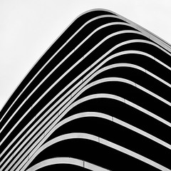 Simple Abstract 53 (No Great Hurry) Tags: blackandwhite abstract building london lines square mono minimal lookingup balconies minimalism simpleabstract pateltaylor nogreathurry constructuralart architectureontheslant robinmauricebarr lombardwharf 18200 canon 550d thenakedabstract