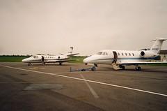 VP-BDB Cessna Citation 560V With N606AT Cessna Citation 650 (Aircaft @ Gloucestershire Airport By James) Tags: glouucestershire airport vpbdb cessna citation 560v n606at 650 bizjets egbj james lloyds