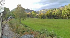 Dee Valley 241019_160411 (Leslie Platt) Tags: exposureadjusted straightened denbighshire llangollenrailway deevalley passingloop deesidehalt